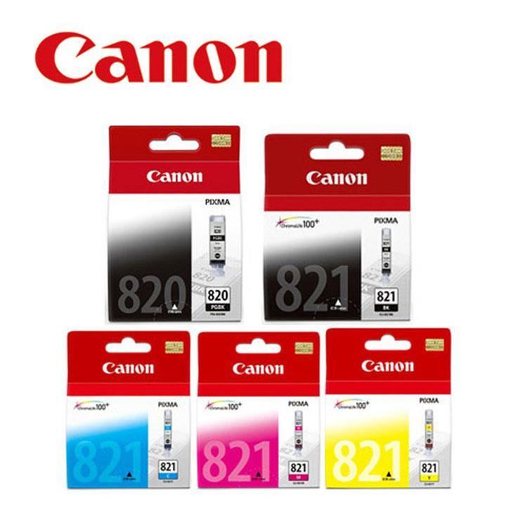 CANON PGI-820BK+CLI-821BK/C/M/Y原廠墨水組合(2黑3彩)