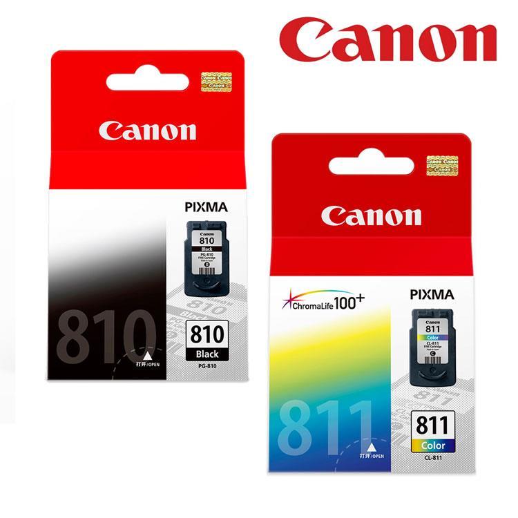 CANON PG-810+CL-811 原廠墨水匣組合(1黑1彩)