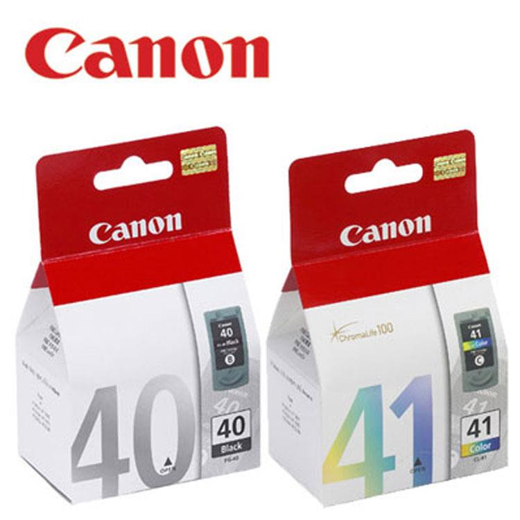 Canon PG-40+CL-41原廠墨水匣組合(1黑1彩)