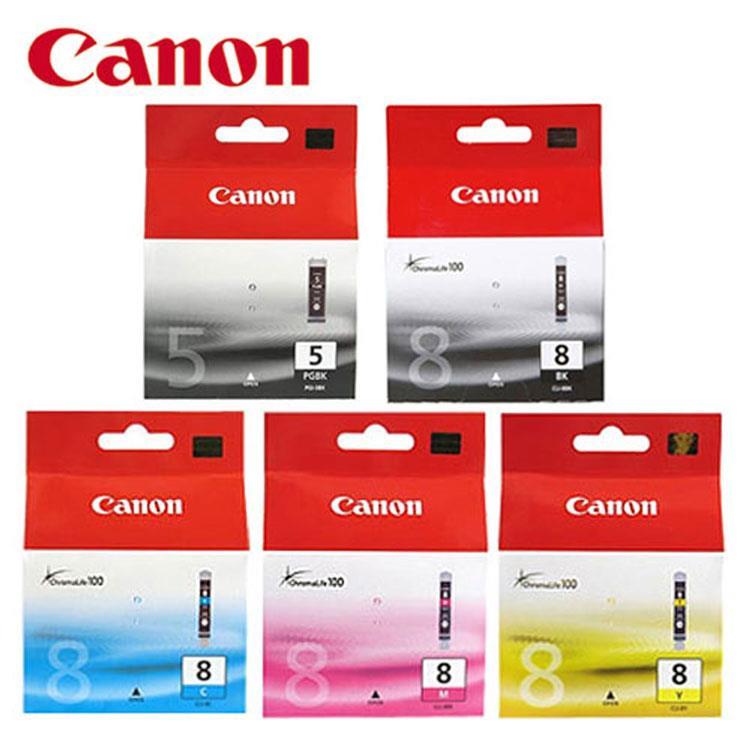 CANON PGI-5BK+8BK+CLI-8C/M/Y 原廠墨水超值組 (5入)