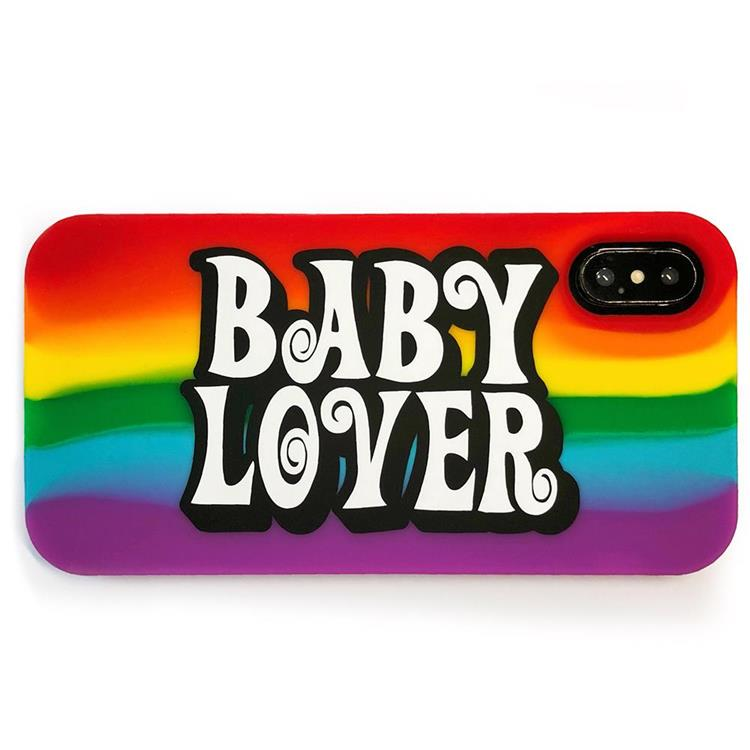 【Candies】Simple彩虹系列 BABY LOVER - iPhone X.XS