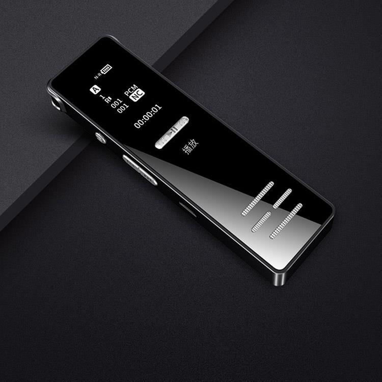 黑霧鏡面雙功能迷你MP3隨身聽錄音筆(隨附8G記憶卡)-J09