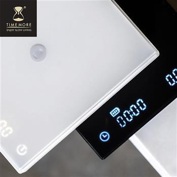 新版TIMEMORE泰摩黑鏡手沖咖啡大師LED觸控秤重計時電子秤 -黑可充電 杯測計時