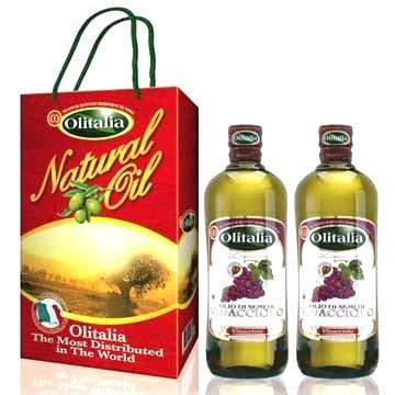 Olitalia奧利塔葡萄籽油禮盒組(1000mlx2瓶)