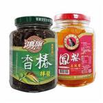 鴻旗-香椿拌醬+鳳梨豆鼓醬(390g/瓶,共二瓶)_A022012
