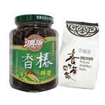 鴻旗-香椿拌醬(390g/瓶)+香椿茶(15入/盒)_A022014