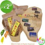 《和之心》精選綜合小寶島果乾禮盒(芭樂/楊桃/鳳梨心各130克)2盒