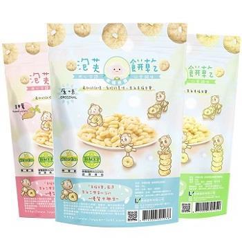 【幸福米寶】泡芙餅乾/原味(20g/包)-八包入