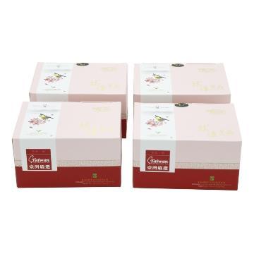 【龍源茶品】台灣黃山雀阿里山金萱茶4盒組(150g/盒)