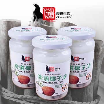 《炭道》健康冷壓椰子油9入組(300ml/入)