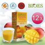 【囍瑞 BIOES】純天然 100% 芒果汁綜合原汁(1000ml - 12入)