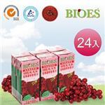 【囍瑞 BIOES】純天然 100% 蔓越莓汁綜合原汁( 200ml - 24入)