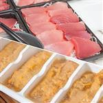 【台灣鑫鮮】印度洋黑鮪魚TORO生魚片16片+澎湖海膽200g