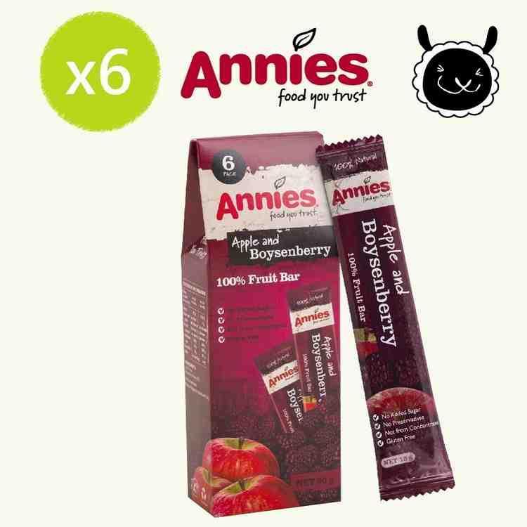 【壽滿趣- 紐西蘭原裝進口】Annies 全天然水果條(波森莓 6盒, 36片家庭裝)
