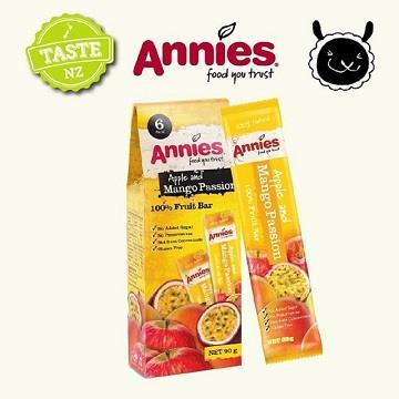 【壽滿趣- 紐西蘭原裝進口】Annies 全天然水果條(百香芒果15gm6片裝)~賞味期至2020.10.24