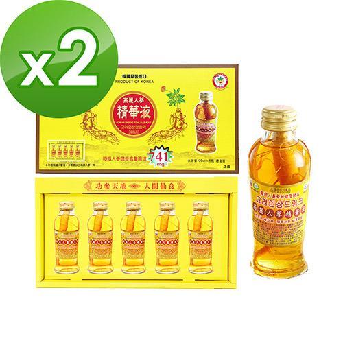 金蔘-韓國高麗人蔘精華液禮盒(120ml*5瓶)共2盒