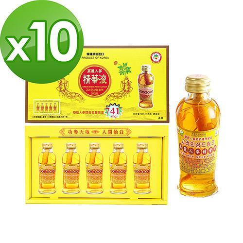 金蔘-韓國高麗人蔘精華液禮盒(120ml*5瓶)共10盒
