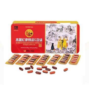 金蔘-6 年根韓國高麗紅蔘鹿茸精膠囊(120顆/盒)