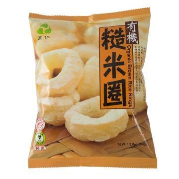 【里仁】有機糙米圈80g