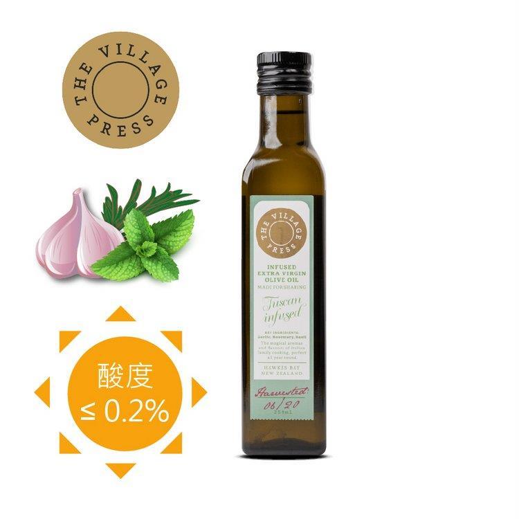 【壽滿趣- 紐西蘭廚神系列】頂級冷壓初榨義式香蒜風味橄欖油(250ml 單瓶散裝)~賞味期至2020.09.30