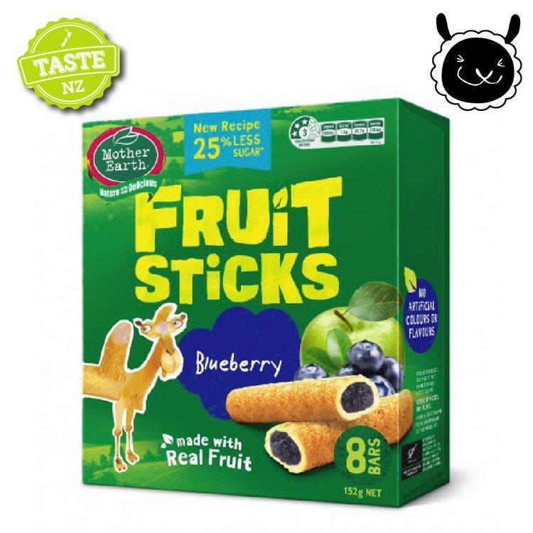 【壽滿趣】紐西蘭 Mother Earth烘培水果棒x1盒(藍莓口味)~賞味期至2020.02.01