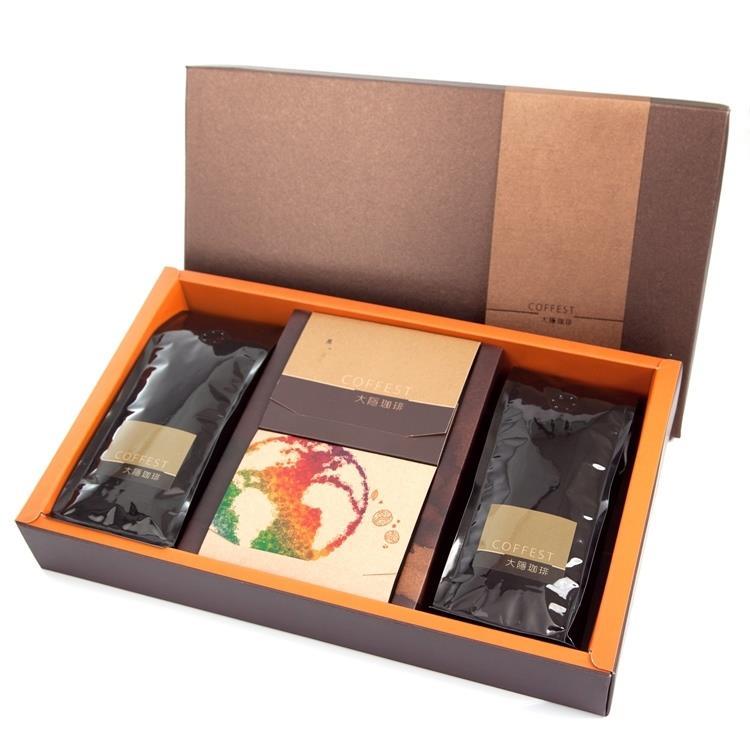 【大隱珈琲】藏悅咖啡禮盒 (半磅咖啡豆2入+濾掛式10入)