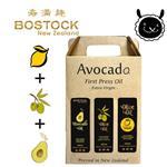 【壽滿趣- Bostock】頂級冷壓初榨酪梨油;原味/檸檬風味橄欖油(250ml 三瓶禮盒裝)