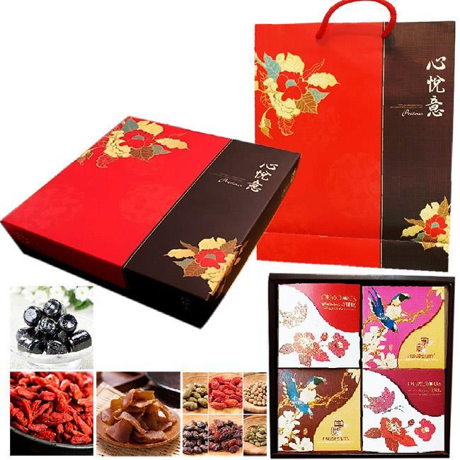 買一送一【瘋神邦】饗饌禮盒(五香蒟蒻乾+綜合堅果+寧夏枸杞+龜苓膏軟糖)
