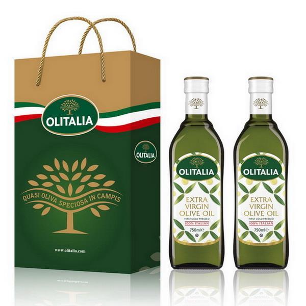 (Olitalia)奧利塔特級初榨橄欖油禮盒組(750mlx2瓶)