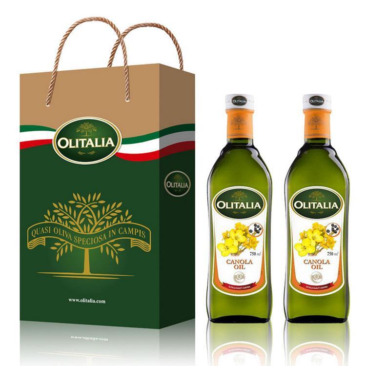 Olitalia奧利塔頂級芥花油禮盒組(750mlx2瓶)
