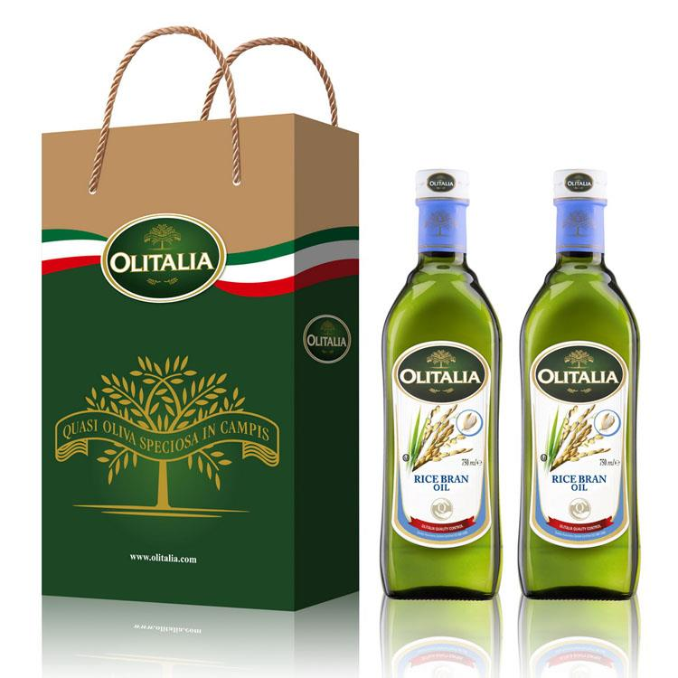 Olitalia奧利塔玄米油禮盒組(750mlx2瓶)