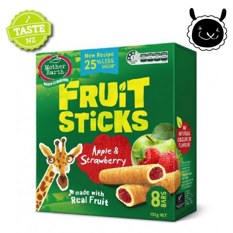【壽滿趣】紐西蘭 Mother Earth烘培水果棒x1盒(蘋果草莓口味) 賞味期至2020.10.01