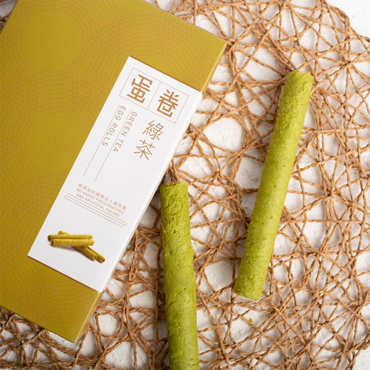 【英記餅家】綠茶蛋卷_10入/盒(2盒組)