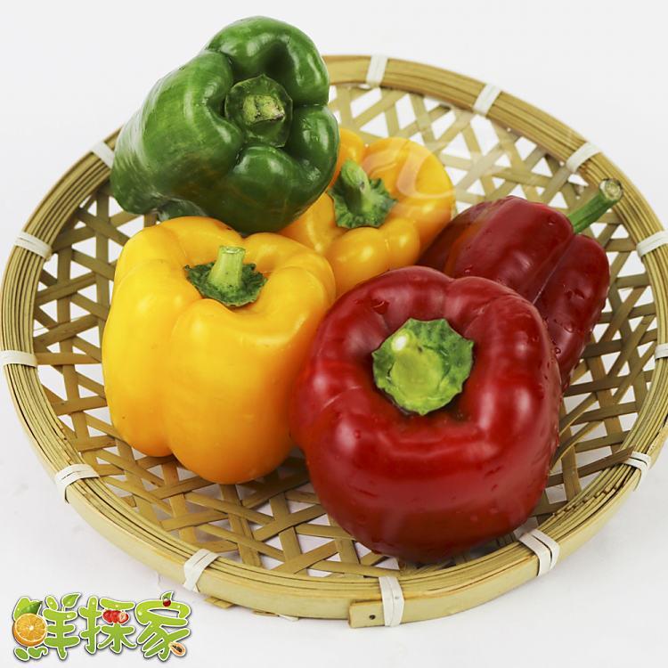 鮮採家 特選肉厚六角蒂綜合彩椒組合5台斤(青椒.紅椒.黃椒)