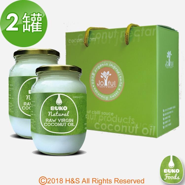 【Buko】天然冷壓初榨椰子油禮盒組(二罐)