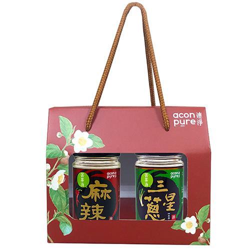 連淨 苦茶油拌醬禮盒 2入組(三星蔥+麻辣)