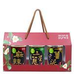 連淨 苦茶油拌醬禮盒 3入組(薑泥+三星蔥+麻辣)