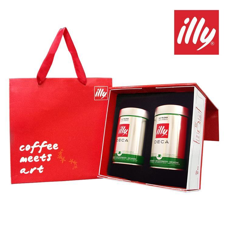 【illy】意利尊榮咖啡禮盒(低咖啡因咖啡粉二入)