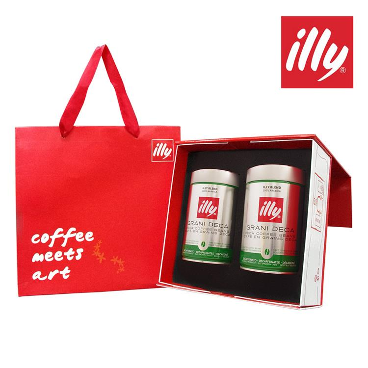 【illy】意利尊爵咖啡禮盒(低咖啡因咖啡豆二入)