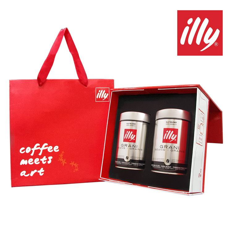 【illy】意利尊爵咖啡禮盒(深焙咖啡豆二入)