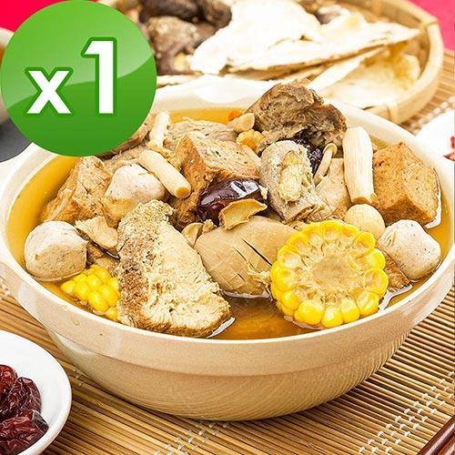 三低素食年菜 樂活e棧 十全十美-元氣大補湯1盒(1400g/盒)-蛋素