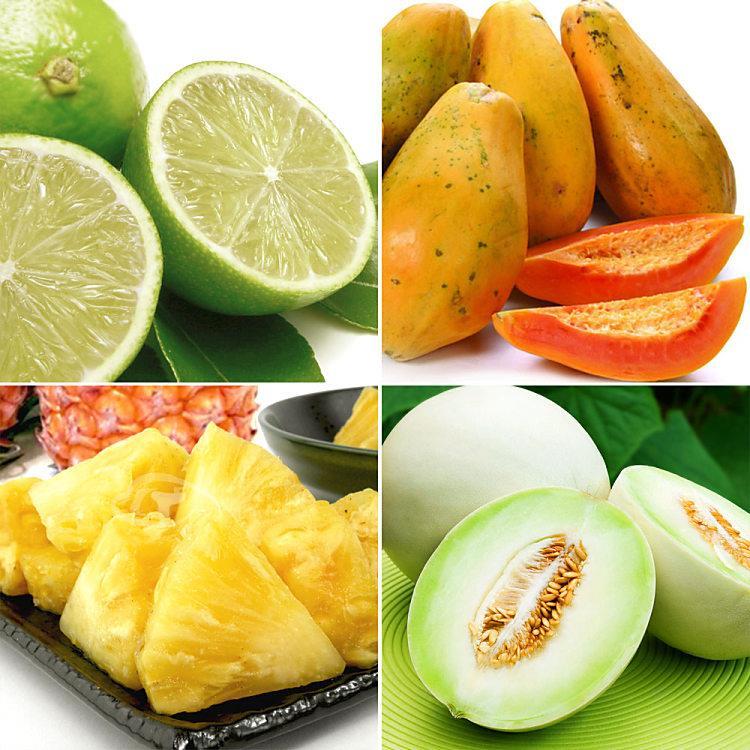 果之家 營養滿分水果箱(木瓜+金鑽鳳梨+蜜世界+檸檬)