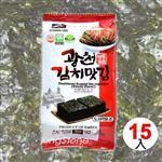 韓國進口SAMWON【辣泡菜味海苔】12克-15入