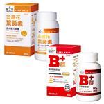 【台塑生醫】緩釋B群雙層錠(60錠/瓶)+成人金盞花葉黃素複方膠囊(60錠/瓶)