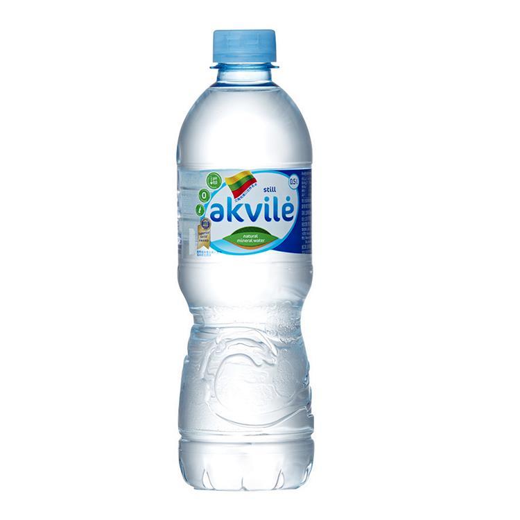 【立陶宛akvile】愛可麗天然鹼性礦泉水 500ml(24瓶/箱) 2箱組