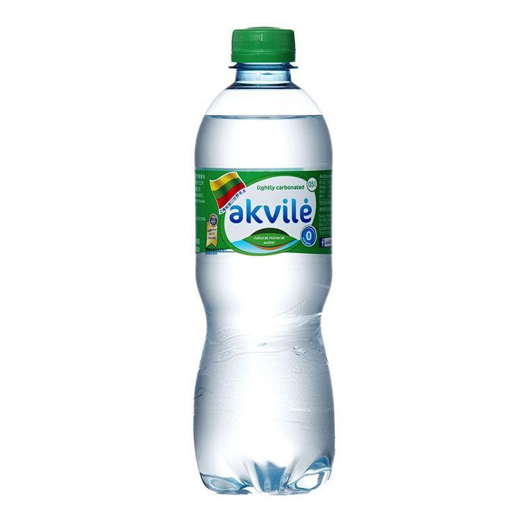 【立陶宛akvile】愛可麗氣泡天然礦泉水 500ml(24瓶/箱) 共2箱
