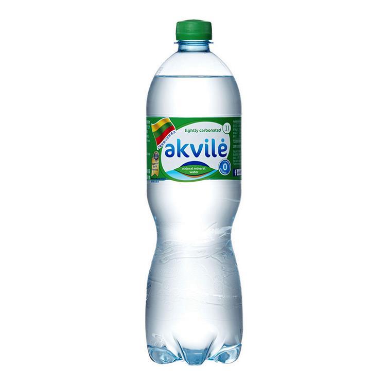 【立陶宛akvile】愛可麗氣泡天然礦泉水 1000ml(12瓶/箱) 共2箱
