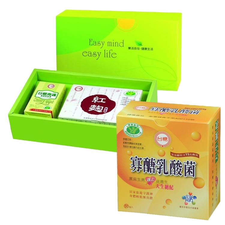 獨家特惠組【台糖】元氣舒活保健禮盒(精選魚油+紅麴膠囊)+【台糖】寡醣乳酸菌**1盒