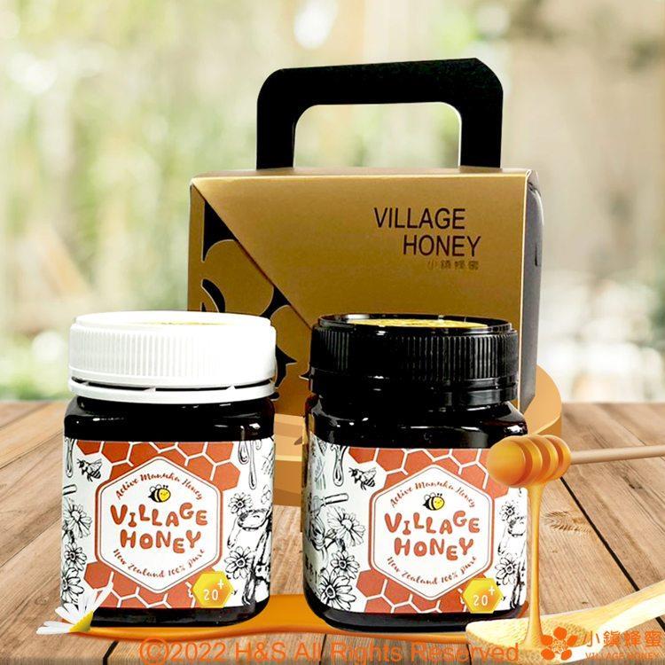 【小鎮蜂蜜】天然活性麥蘆卡蜂蜜20+(250克)+乳化活性麥蘆卡20+(250克)