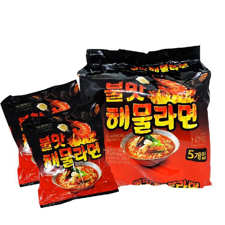 韓國NoBrand海鮮炒碼拉麵 (1包5入)  有效期限2020.05.11